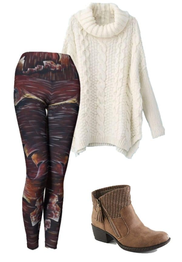 Leggings Peeling Bark Leggings Outfit Ideas 3