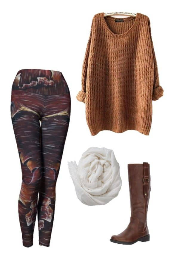 Leggings Peeling Bark Leggings Outfit Ideas 4