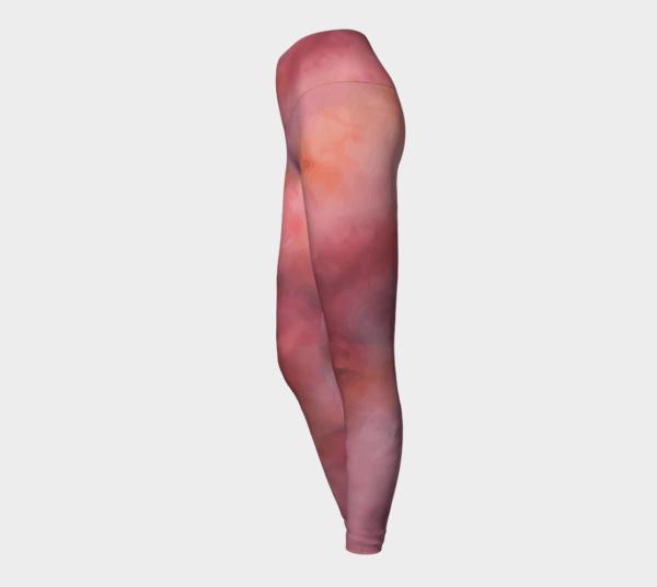 Leggings Pink Abstract Art Leggings 4 1