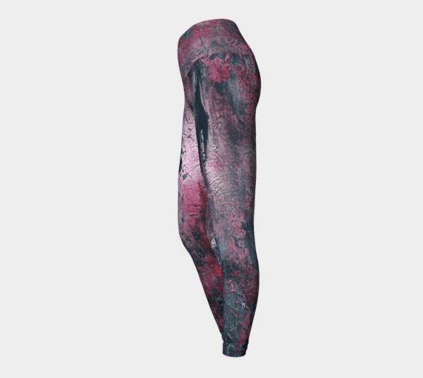 Leggings Red Abstract Art Leggings 1
