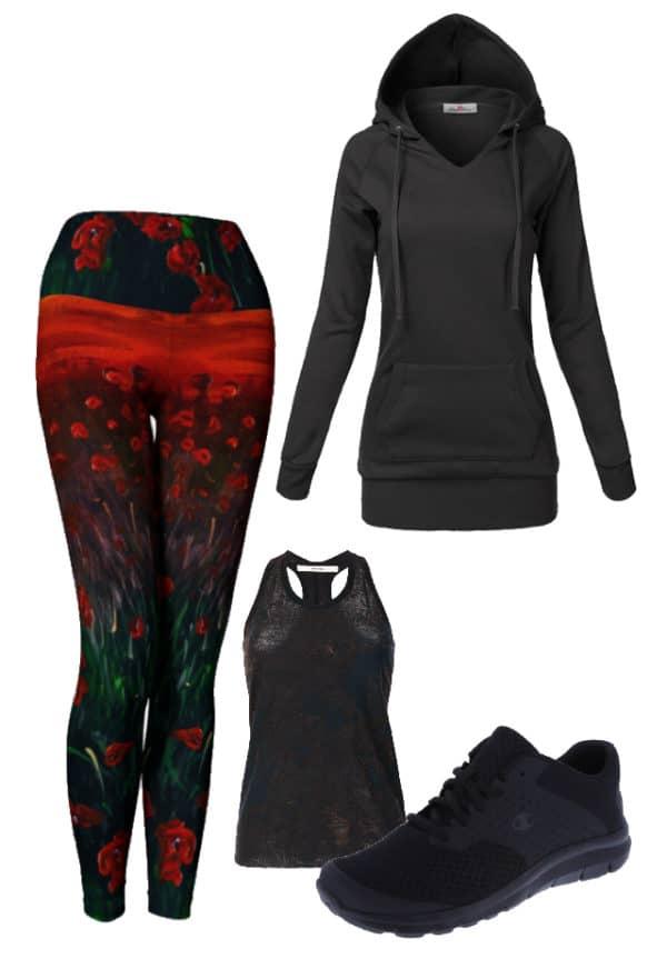 Leggings Red Poppy Leggings Outfit Ideas 2