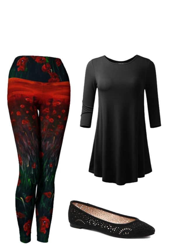 Leggings Red Poppy Leggings Outfit Ideas 3