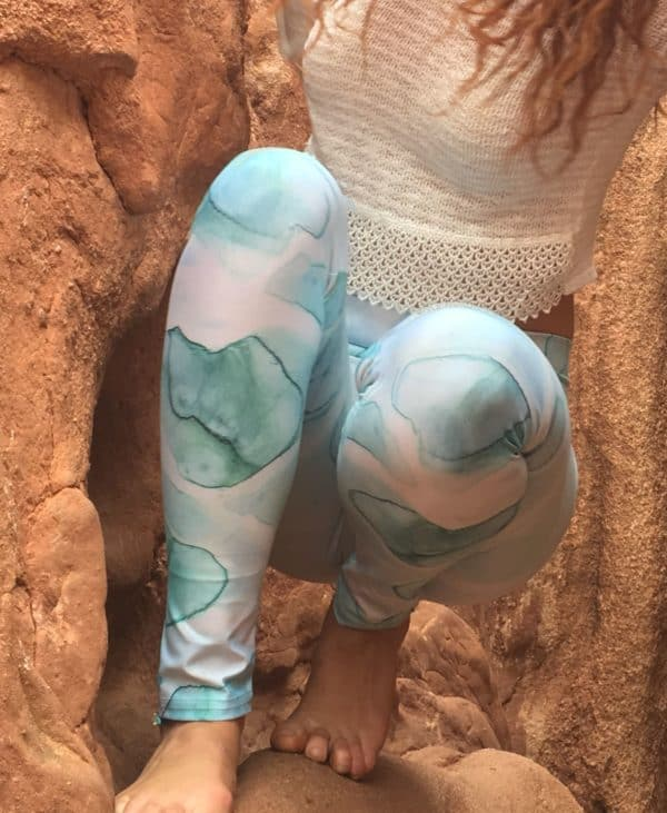 Leggings Watercolor Sea Leggings 7