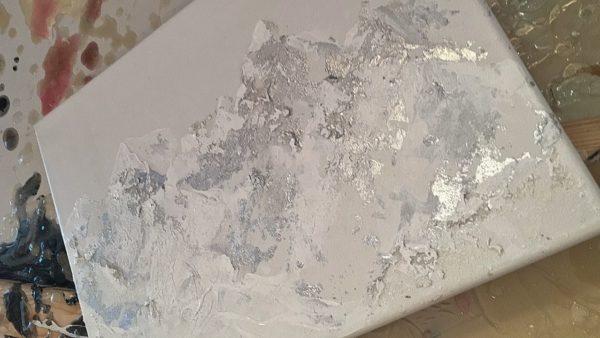 mountain art, mountain painting, silver art, landscape mountains