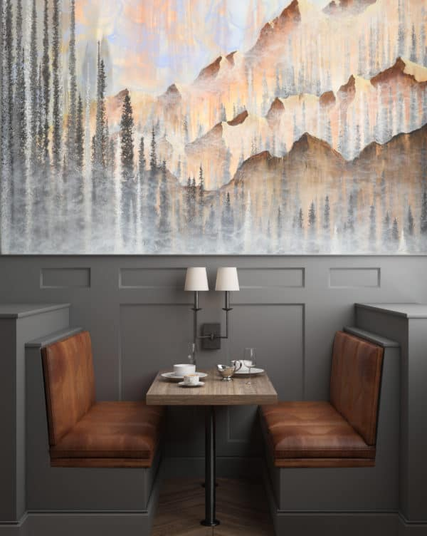 Murals Afterburn Mountain Landscape Wall Mural 1