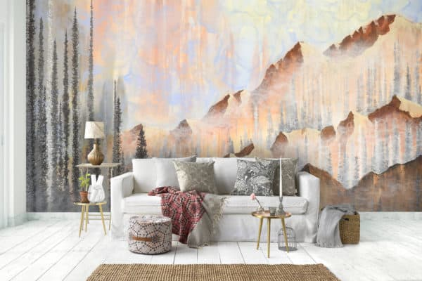 Murals Afterburn Mountain Landscape Wall Mural 3 1