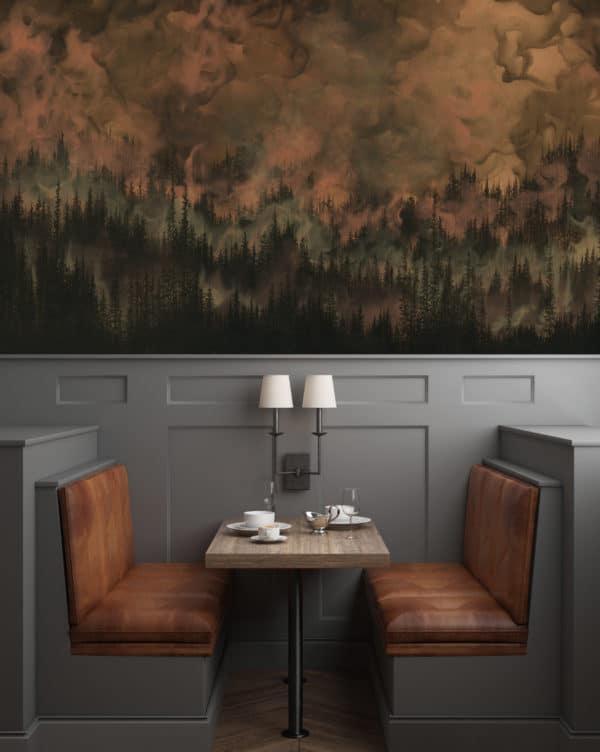 Murals Dark Copper Forest Landscape Wall Mural 3 1