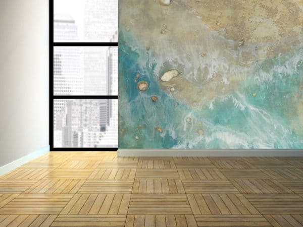 Murals Foamy Beach Waves Wall Mural 2 1