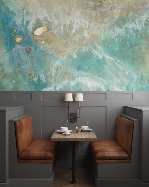 Murals Foamy Beach Waves Wall Mural 3 1