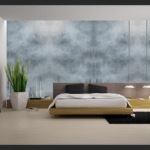 Murals Foggy Grey Forest Landscape Wall Mural 2