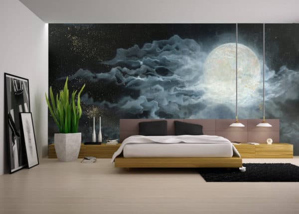 Murals Glowing Full Moon Wall Mural 2 1