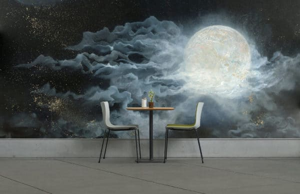 Murals Glowing Full Moon Wall Mural 3