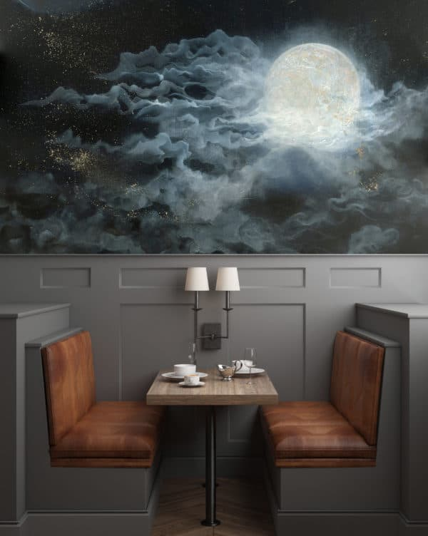 Murals Glowing Full Moon Wall Mural 5 1