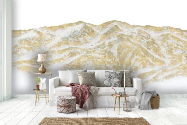 Murals Gold Mountain Landscape Wall Mural 1