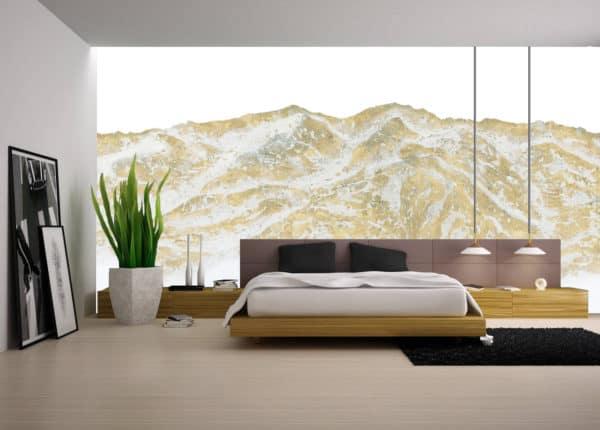 Murals Gold Mountain Landscape Wall Mural 2