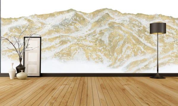 Murals Gold Mountain Landscape Wall Mural 3