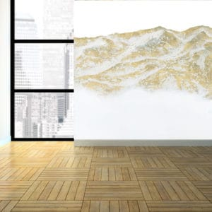 Murals Gold Mountain Landscape Wall Mural 4