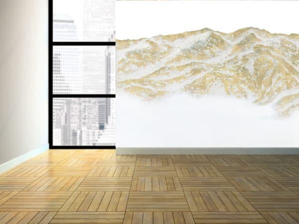 Murals Gold Mountain Landscape Wall Mural 4