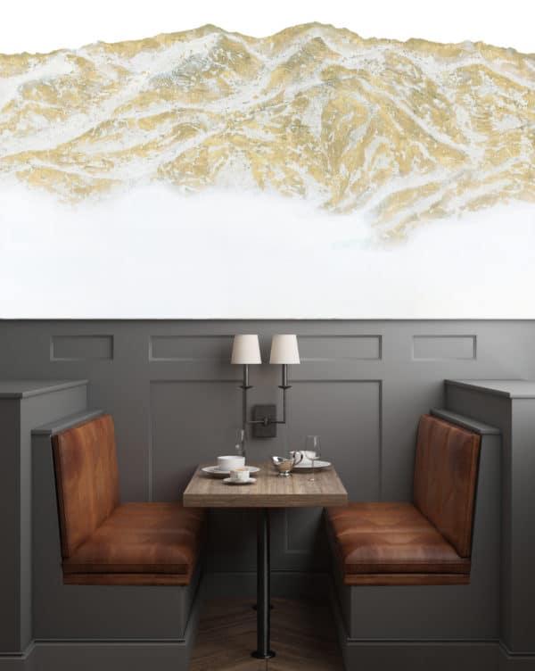 Murals Gold Mountain Landscape Wall Mural 5