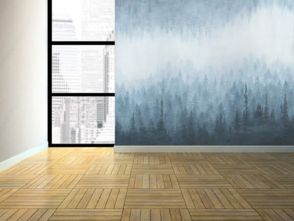 Murals Rush Blue Forest Wall Mural 4