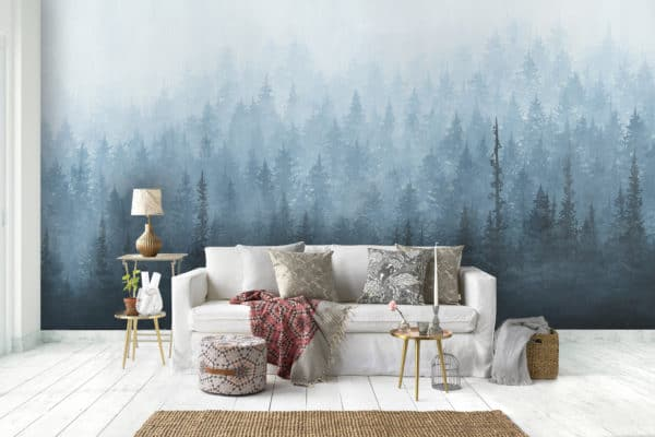 Murals Rush Blue Forest Wall Mural 5