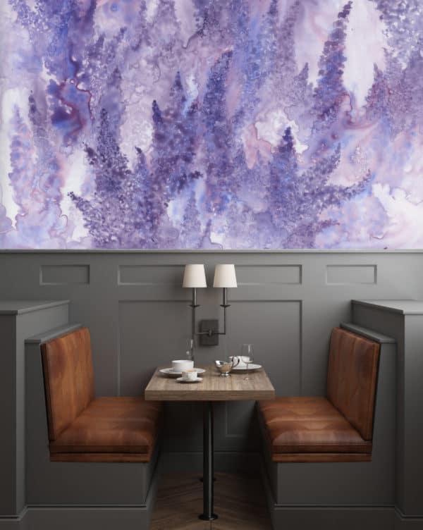 Murals Watercolor Lavender Floral Wall Mural 2 1