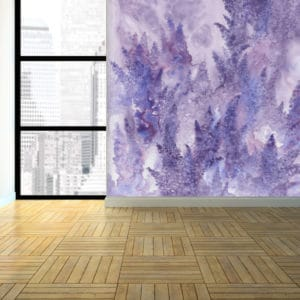 Murals Watercolor Lavender Floral Wall Mural 3 1