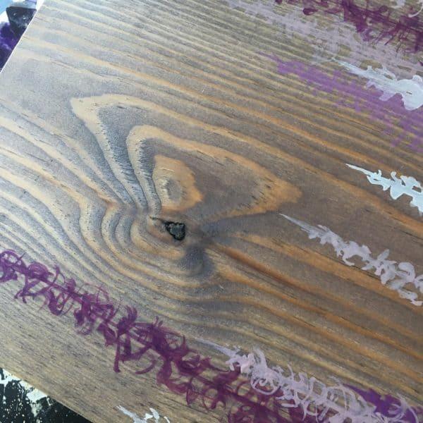 Original Painting Trees on Wood 12 8 1