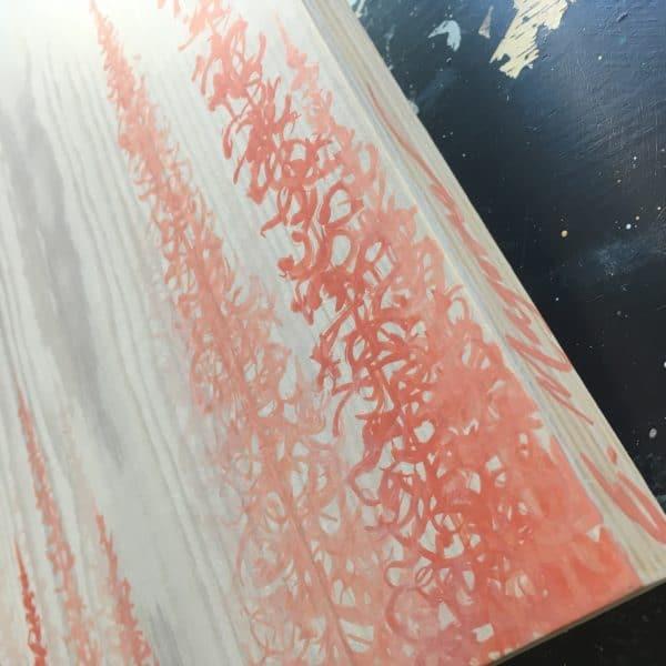 Original Painting Trees on Wood 16 2