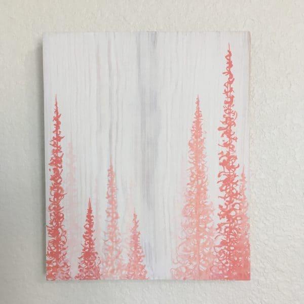 Original Painting Trees on Wood 16 4