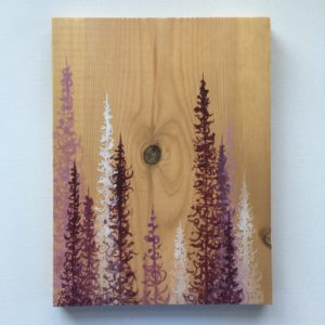 Original Painting Trees on Wood 5 2