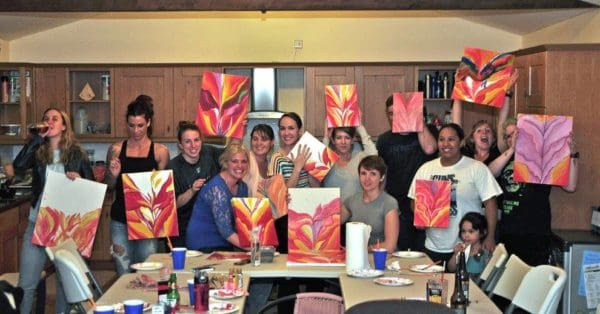 Painting Party Red Canna Party 1