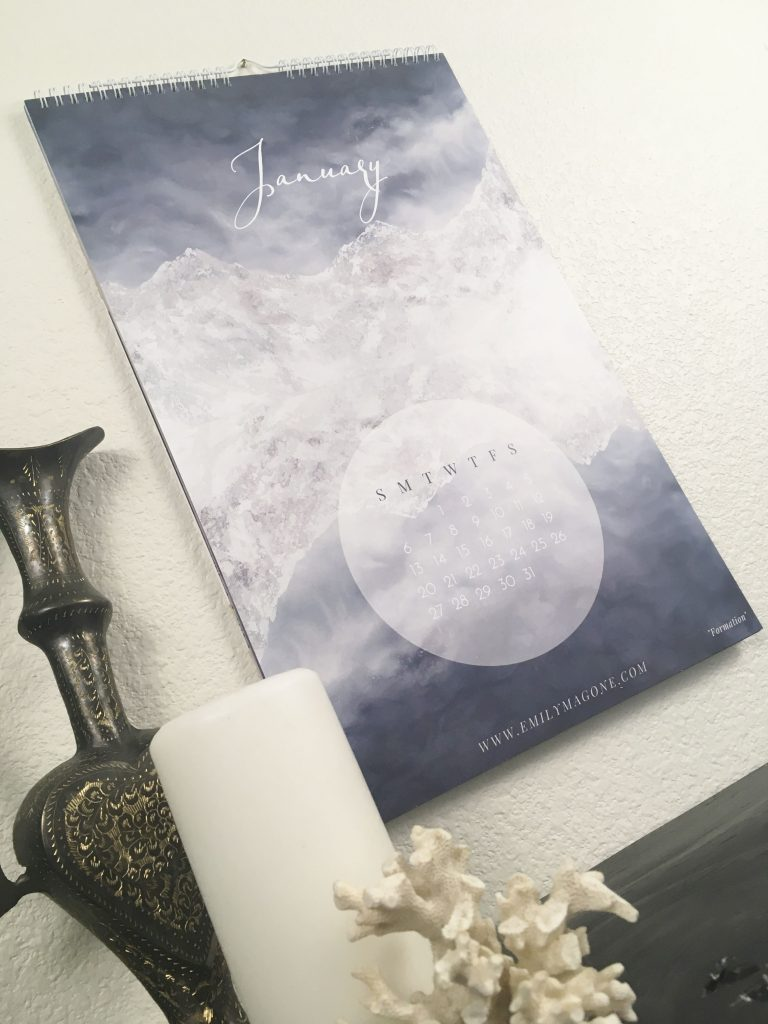 nature calendar, 2019 calendar, 2019 wall calendar, art calendar