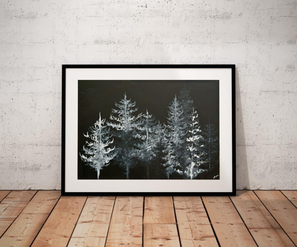 Prints Black Trees Print 6 1