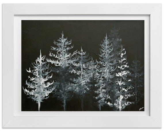 Prints Black Trees Print 7 1