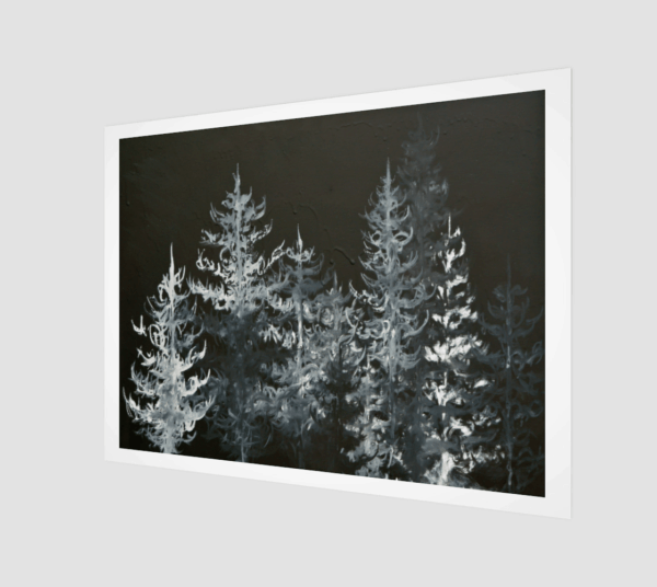 Prints Black Trees Print 8 1