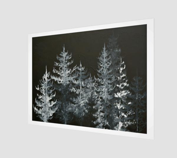 Prints Black Trees Print 8