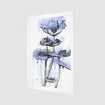 Prints Blue Mushrooms Print 7