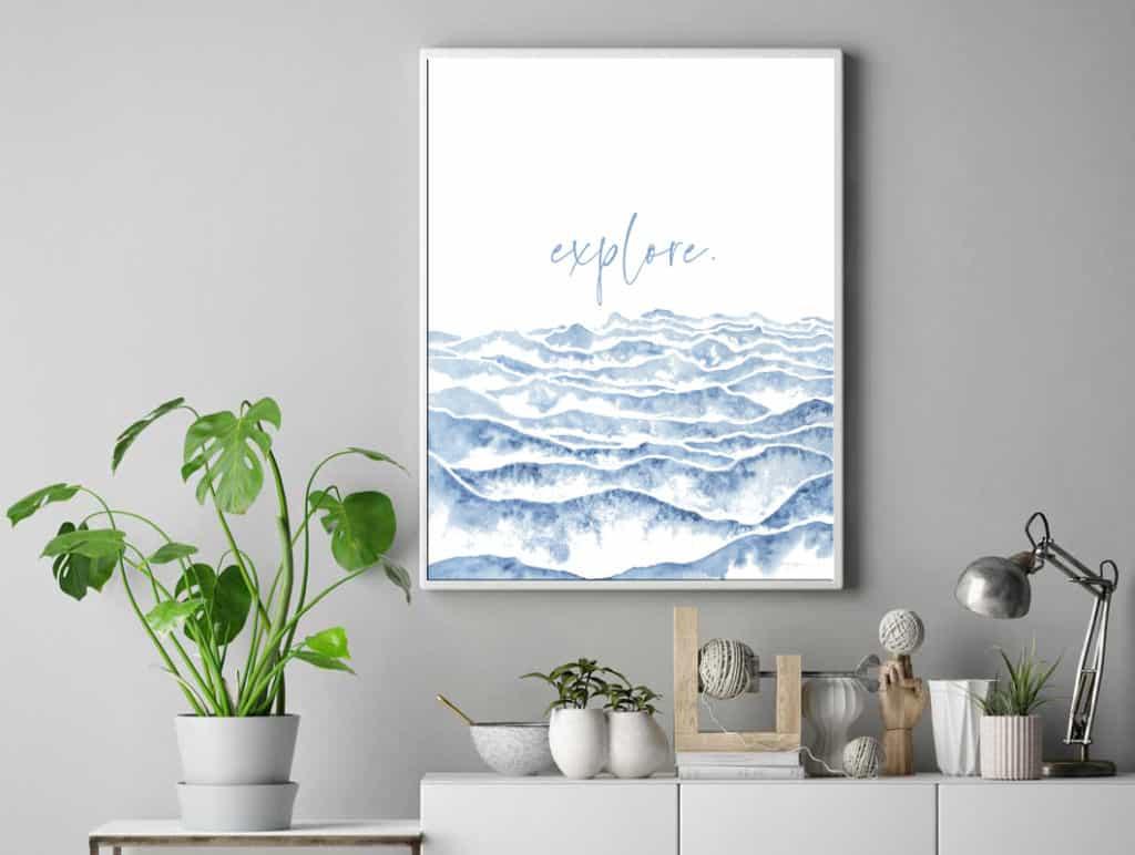 Prints Explore Watercolor Printable Word Art 9