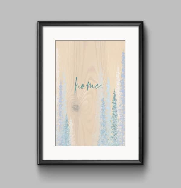 Prints Home Blues Printable Word Art Print 7