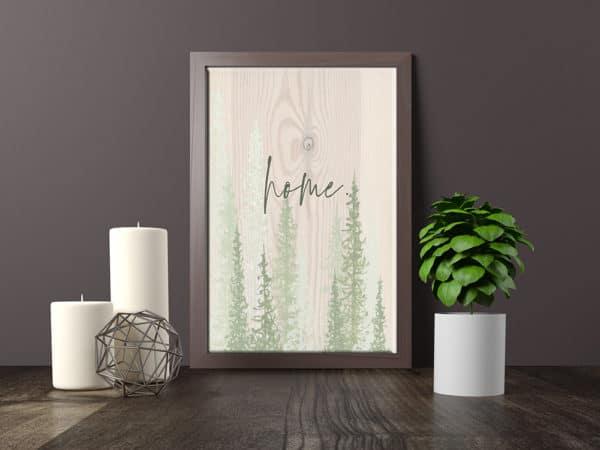 Prints Home Rustic Printable Word Art Print 10