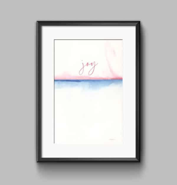 Prints Joy Watercolor Printable Word Art 8