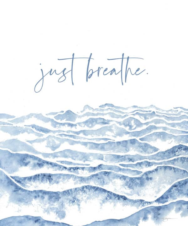 Prints Just Breathe Watercolor Printable Word Art 13 1