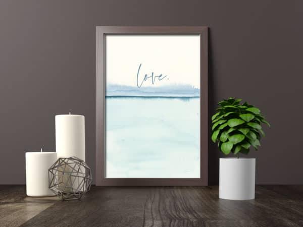 Prints Love Modern Printable Word Art 11