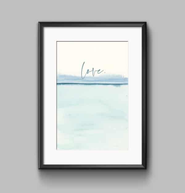 Prints Love Modern Printable Word Art 8