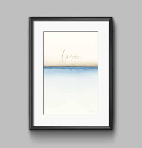 Prints Love Watercolor Printable Word Art 7