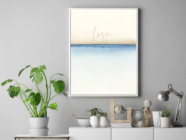 Prints Love Watercolor Printable Word Art 9
