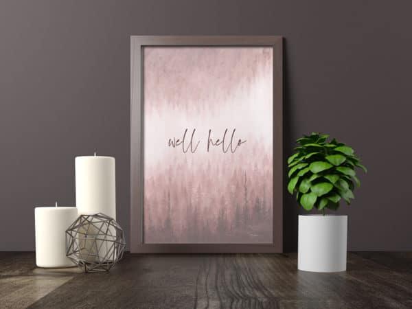 Prints Well Hello Printable Word Art Print 10 1