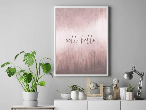 Prints Well Hello Printable Word Art Print 9 1