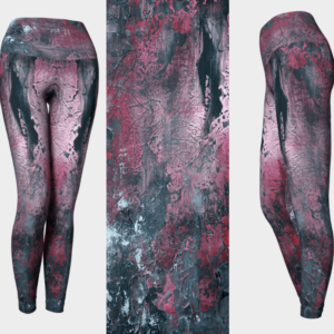 Red Abstract Art Leggings